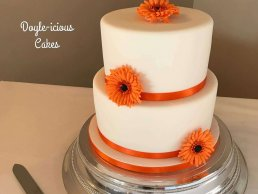 Orange Flower Tiered Cake